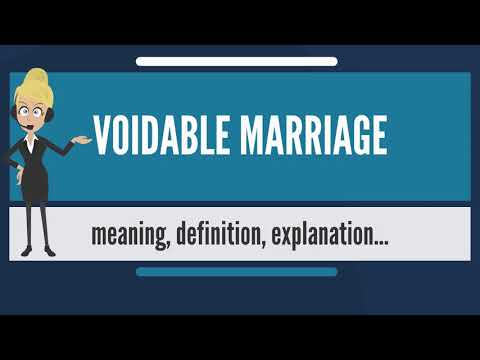 What is VOIDABLE MARRIAGE? What does VOIDABLE MARRIAGE mean? VOIDABLE MARRIAGE meaning