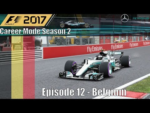 F1 2017 Career Mode Season 2 Part 12 - Belgium (A Dreadful Race For Ferrari)