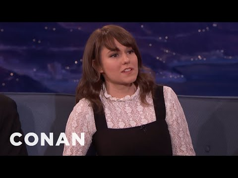 Claudia O'Doherty Ignored Ewan McGregor  - CONAN on TBS