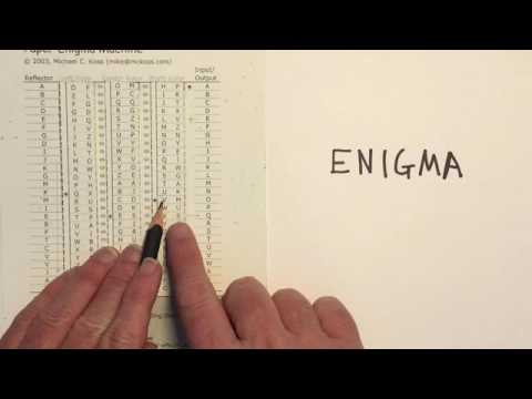 Paper Enigma Machine