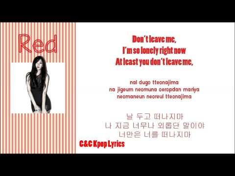 Hyuna - Red Lyrics [ English Subs | Romanization | Hangul ]