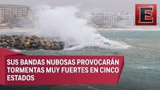 Tormenta tropical Bud toca tierra en Baja California Sur