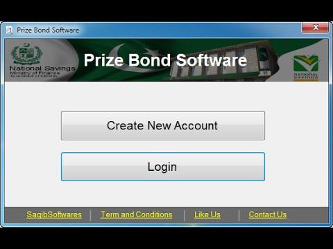 Prize Bond Searching Software