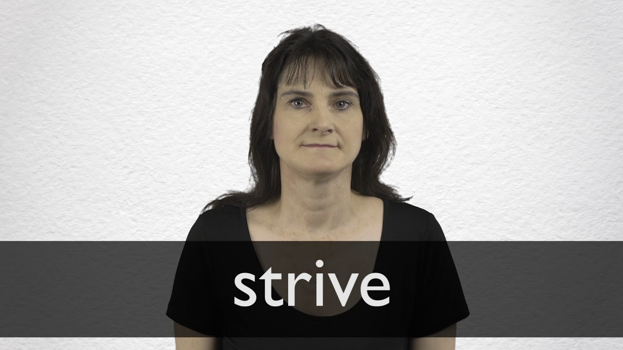 How to pronounce STRIVE in British English