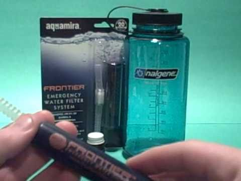 Bug Out Prepping... Aquamira Frontier Emergency Water Filter STRAW