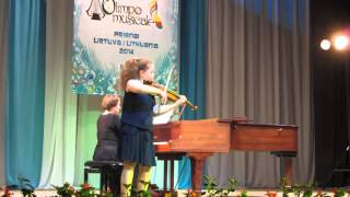 Анастасия Жукова Шарль Берио Концерт №9 для скрипки с оркестром ля минор 1 часть