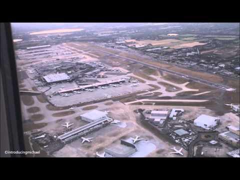 London Heathrow to Belfast city flight