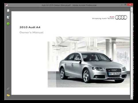 audi a4 (2008-2015) - service manual - wiring diagrams - owners manual