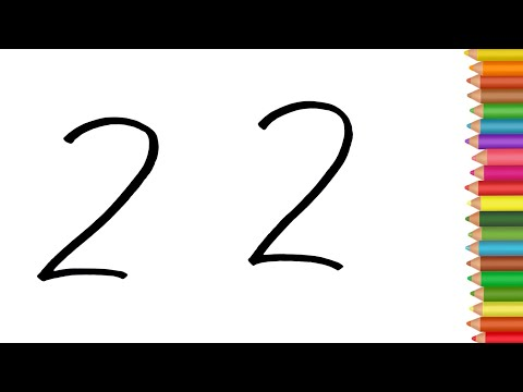 How draw cute Parrot from 22 Number step by step Easy Drawing