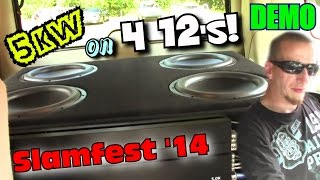 "Clean Sounding Car Stereo System w/ Jons Four 12"" DC Audio Subwoofers FLEXING Two LOUD Bass Songs"
