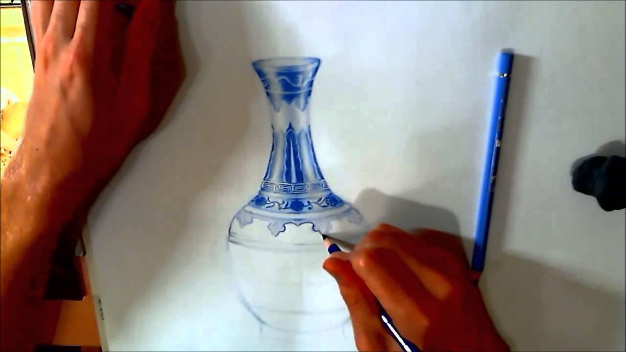 Beautiful Vase Drawing