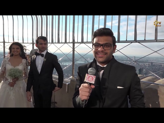 25th Annual Valentines Day Wedding Features Indian Couple - Empire State Building - New York City