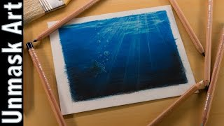 Under Water Scene | Colored Pencil Drawing Time Lapse
