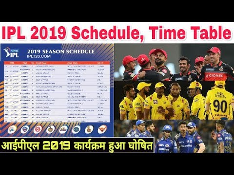 Vivo ipl match start date