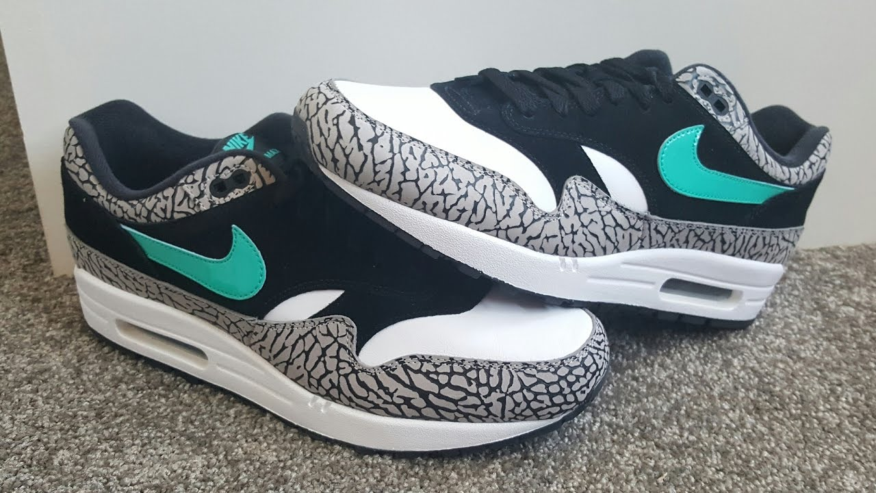 c45f1472d68d unboxing unpacking Nike Air Max 1 Atmos Elephant 2017 retro 2007 ...