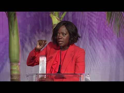 Viola Davis presents to Octavia Spencer at Variety's Power of Women event