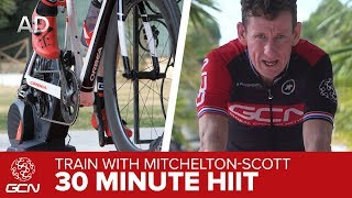 30 Minute HIIT Fat Burn Workout | Train With Mitchelton-Scott