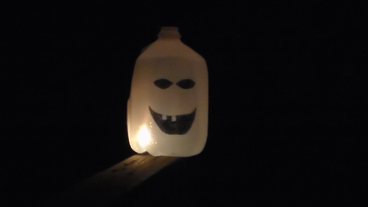 how to make a milk jug ghost - Milk Carton Halloween Ghosts