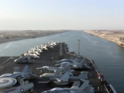 USS Enterprise Carrier Strike Group Goes Through Suez Canal