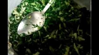 How To Cook - Spinach - Saag Bhaji - Indian Cooking - Indian Restaurant Cooking - Pabda20 - Part  2
