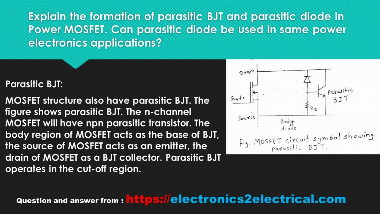 Explain the formation of parasitic bjt and parasitic diode in explain the formation of parasitic bjt and parasitic diode in power mosfet can parasitic diode be u biocorpaavc Images