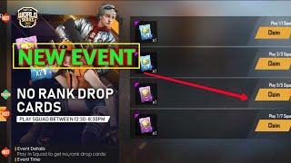 How to Free fire new event ! No rank drop cards ! Free fire new event ! How to free fire 2019 event?