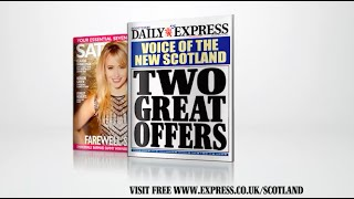 Latest Scottish Daily Express with free Churchill DVD