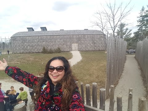 Vlog #64   Recreated First Nation Iroquoian Village