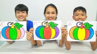Pumpkin Vegetable, Warna Warni Belajar Menggambar dan Mewarnai untuk Anak