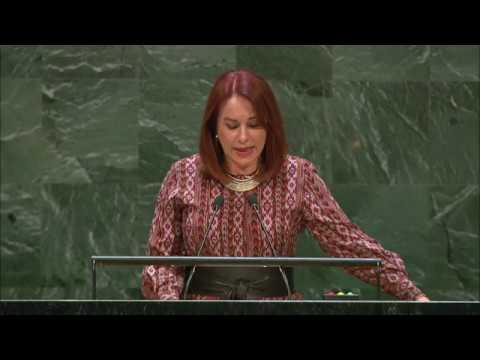 María Fernanda Espinosa faz juramento como presidente da Assembleia Geral