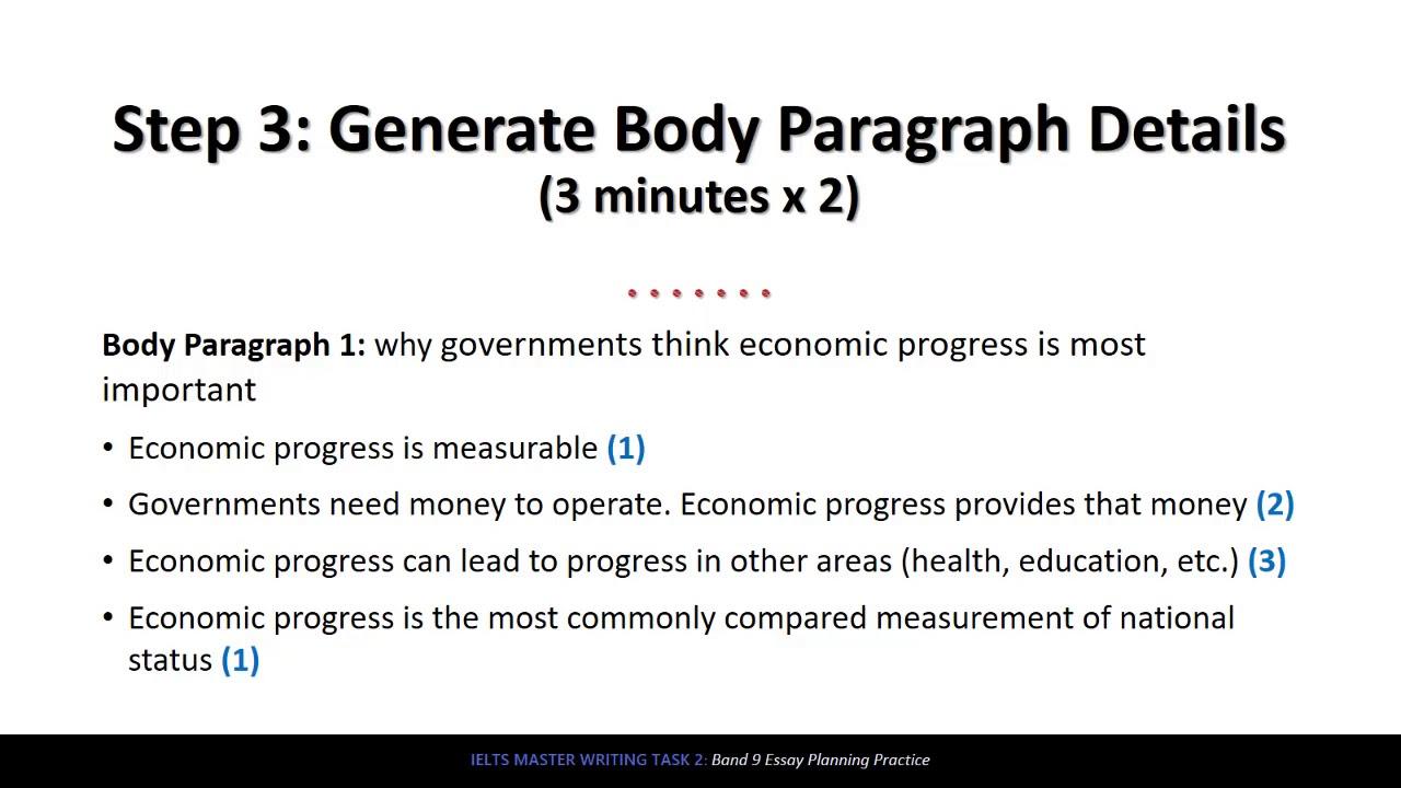 IELTS Writing Task 2 Band 9 Essay Planning - Economic Progress ...