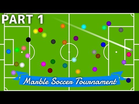 Marble Soccer Tournament: 32 colors - Part 1 (Groups) | Bouncy Marble
