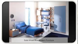 Solid Wood Blue Modern Furniture