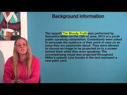 VCE English - Background Information (Language Analysis)