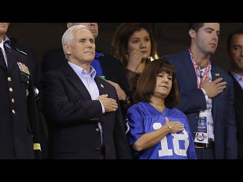 Pence leaves NFL game after players kneel for anthem