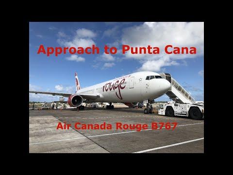 Punta Cana Approach - Air Canada Rouge B767