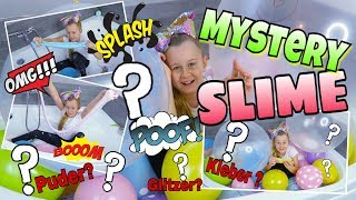 MYSTERY SLIME 😵 Diy BALLOON CHALLENGE | Mavie Noelle Family