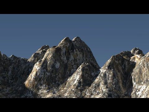 Blender cycles landscape CGI