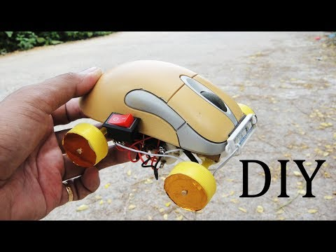 How To Make A Car Using recycled materials - DIY Mini Electric Car From Mouse