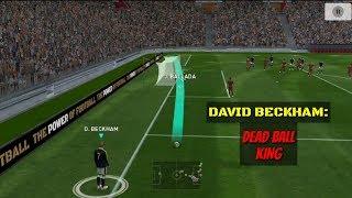 DAVID BECKHAM - THE DEAD BALL KING 👌   INSANE FREEKICKS   
