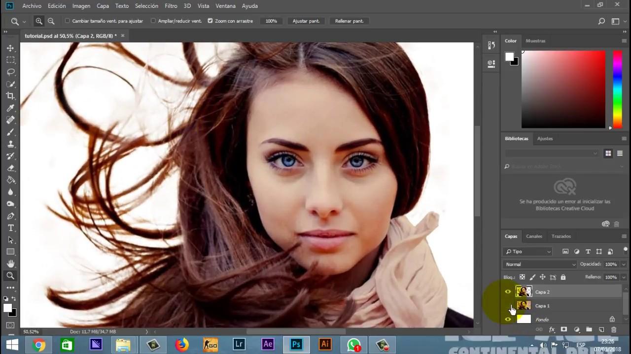 Como quitar fondo de foto en photoshop