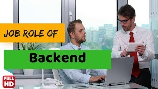 Backend job description in || HR Company || or organization in english