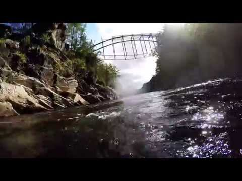 GoPro: Rope Swing River Jump at Livermore Falls