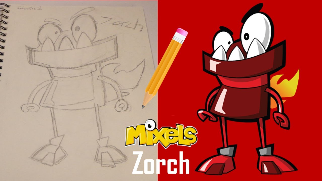 Lego Mixels Drawing Video Zorch Infernites Youtube