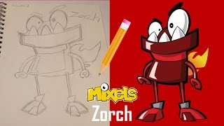 LEGO Mixels Drawing Video - Zorch (Infernites)