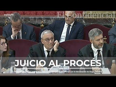 La tensa discusión entre Marchena y los abogados de la defensa en la declaración de Roger Torrent