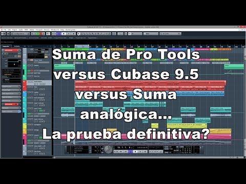 Suma de Pro Tools versus Cubase 9.5 versus Suma analógica – La prueba definitivainitiva?
