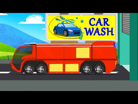 Crash Tender | Car Wash | Video for Kids & Toddlers