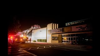 Merced Fire Department responds to fire at United Artists Regency 7 movie theater