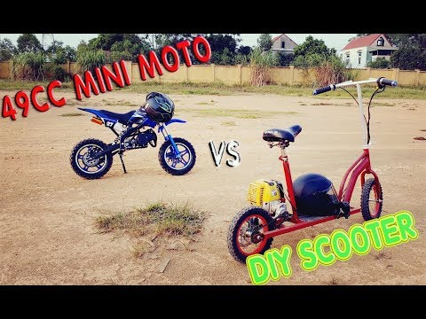 49cc Mini Bike Vs DIY Motorized Scooter
